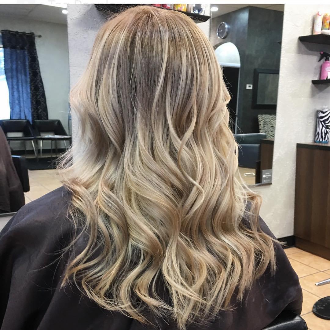 Мелирование балаяж на светлые волосы