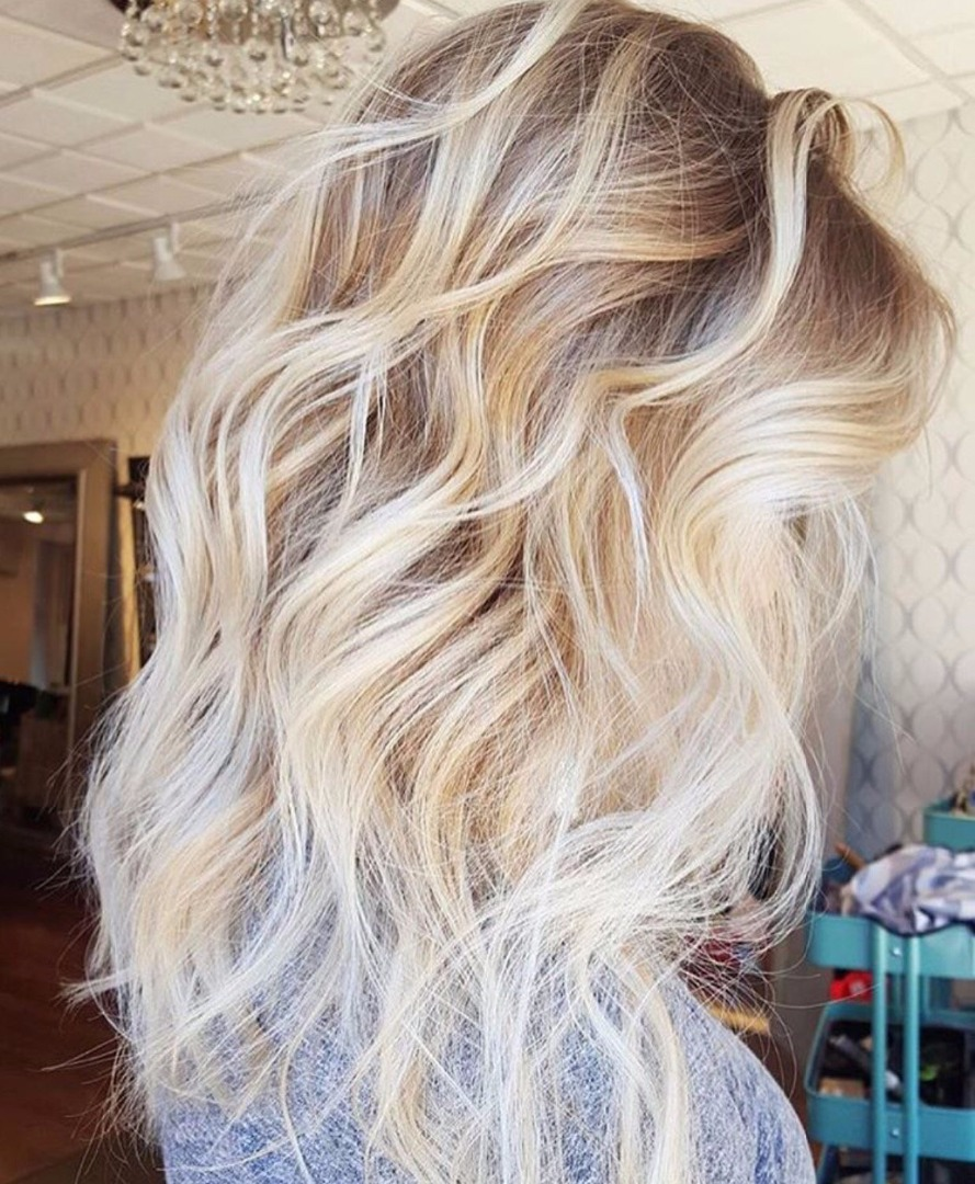 Омбре для блондинок: варианты окрашивания и фото-примеры 21