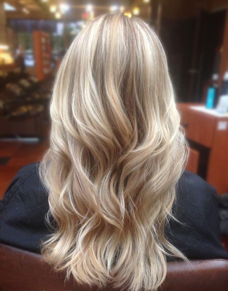 Blonde highlights in brown hair tumblr