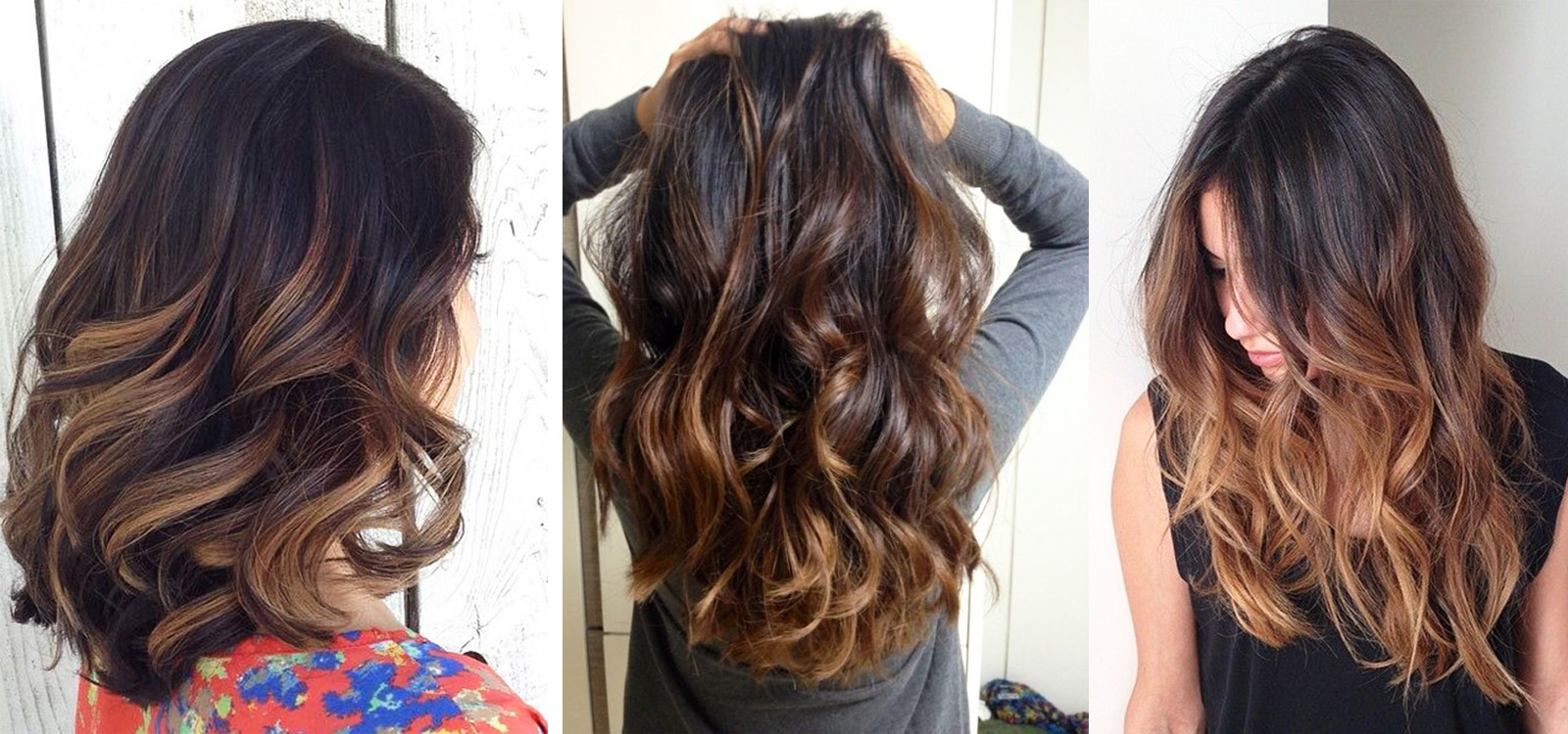 Амбре окрашивание темных волос в домашних условиях 396