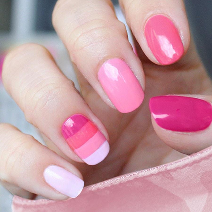 dark pink nails - 900×900